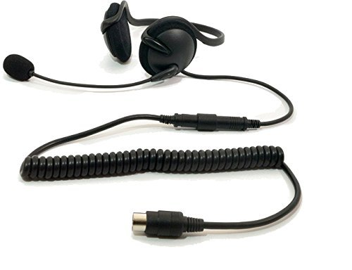 iMC Motorcom HS-H140P Half-Helmet and Helmetless Headset for 7 Pin Harley Davidson Audio Systems