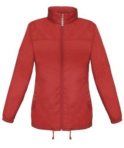 bcjw902Sirocco–Cortavientos para mujer Rojo rojo Talla:extra-large