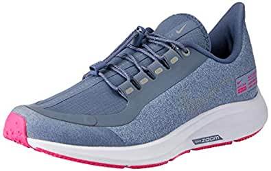 Nike Australia Girls Air Zoom Pegasus 35 Shield GS Fashion Shoes, Work Blue/Reflect Silver-Diffused Blue, 3.5 US