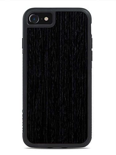 Wood Traveler Case (Reconstituted Ebony by Carved - Apple iPhone 7 Wood Traveler Case - Black Protective Bumper with Real All Wooden)