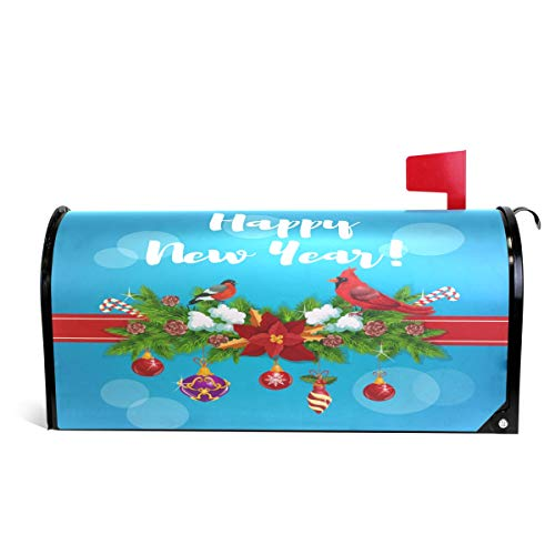 Alaza(mailbox cover) WOOR - Funda magnética para buzón de cartulinas Rojas de tamaño estándar 45,72 cm x 20,32 cm,...