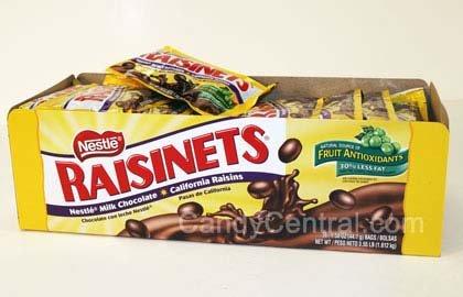 Nestle Raisinets Chocolate - 1.58 Oz Box, 36 Boxes