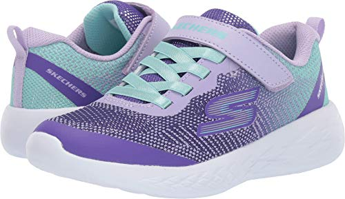 Skechers Kids Girls' GO Run 600-DAZZLE STRIDES Sneaker Lavender/Multi 2 Medium US Little Kid (Skechers Sneakers Girls)