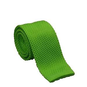 Y-WEIFENG Corbata Estrecha Estrecha para Hombre Tender Verde Moda ...