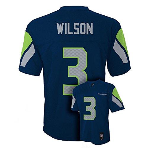 Seattle Seahawks Football Jersey - Outerstuff Russell Wilson Seattle Seahawks Youth Navy Jersey X-Large 18/20