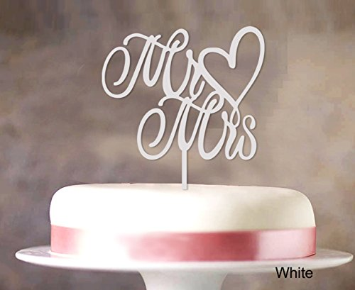 Mr Mrs Hochzeitstorte Deckel Custom Cake Topper Color Option