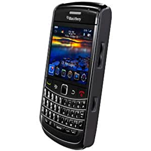 Amzer Simple Snap-On Case with Screen Protector Rubberized for BlackBerry Bold 9700/Onyx 9700 - Black