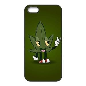 AKERCY Marijuana Leaf Phone Case For iPhone 5,5S [Pattern-1]