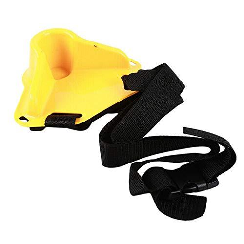 Outdoor Product BABINANA Waist Gimbal Fighting Fishing Belt Fish Rod Holder Adjustable Pole Tackle (Yellow) ()