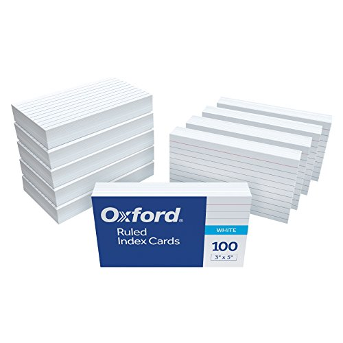(Oxford Ruled Index Cards, 3