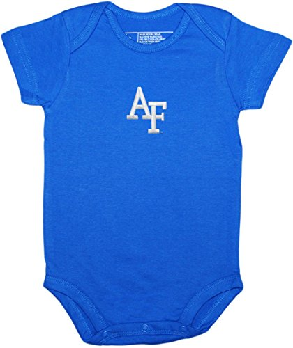 United States Air Force Academy Baby Bodysuit by Creative Knitwear (United States Air Force Academy Colors Blue)