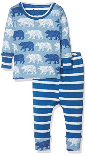 (Hatley Baby Boys Organic Cotton Pajama Sets, Polar Bear Silhouettes, 6-9 Months)