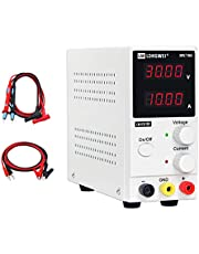 LONGWEI DC Power Supply Variable 30V 10A, High-Precision 4-Digital LED Display, Adjustable Power Supply 300W Low Noise with Alligator Cable and AC 110V Power Cord