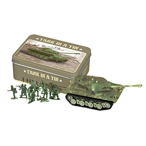 WESTMINSTER INC. Battery Operated Tank In A Tin With 12 Green Army Men For Battle (Tank Battery)