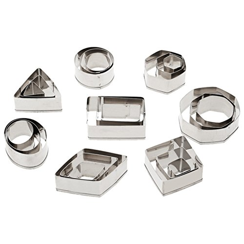 Ogrmar24 Pcs/Set High Temperature Bakeware Stainless steel Cake Cookie Baking Diy Mould Biscuit Cutter (24) -