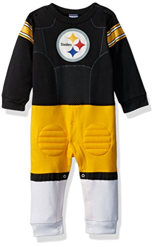 - NFL Pittsburgh Steelers Unisex-Baby Footysuit Coverall, Black, 12 Months