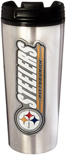 NFL Pittsburgh Steelers 16-Ounce Stainless Steel Travel Tumbler