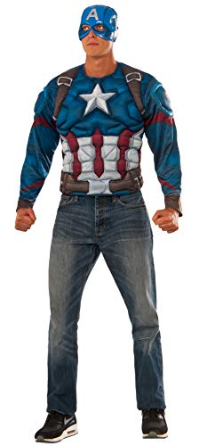 Rubie's Men's Captain America: Civil War Muscle Chest Costume Top, Multi, Standard