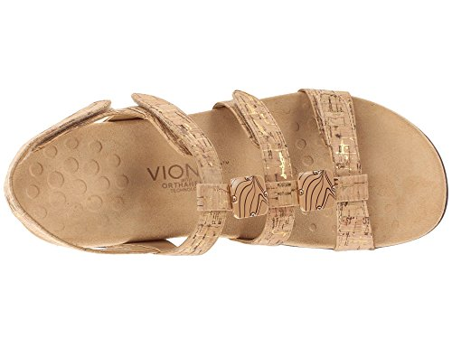 Vionic Womens 44 Rest Amber Synthetic Sandals GOLD.