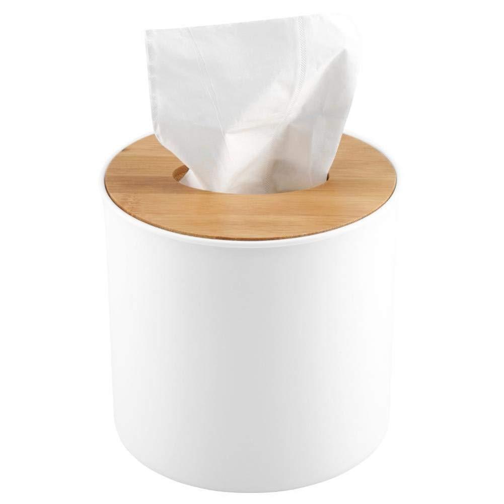 Scatola Porta fazzoletti in Legno e plastica Kleenex per la Decorazione di casa Copertura in Legno Quadrata Suneast Auto Quadrato bamb/ù plastica Ufficio Bamboo Cover