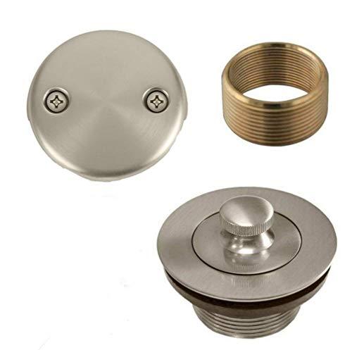 Bathtub Lift and Turn Tub Drain Conversion Kit Assembly Nickel ()