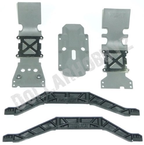 Traxxas E-Maxx Brushless * SKID PLATES & CHASSIS BRACE * (Skid Maxx Plate Rear)