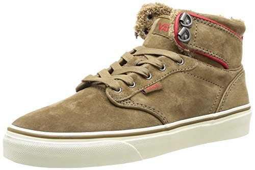 Hi Red Tan Skateboarding Vans Shoes Beige Women's Atwood P5TwTCq