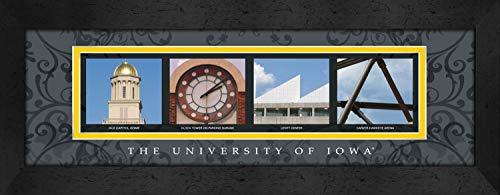 Prints Charming Letter Art Framed Print, U of Iowa-Iowa, Classic Gray Border - Iowa Hawkeyes Wall Border