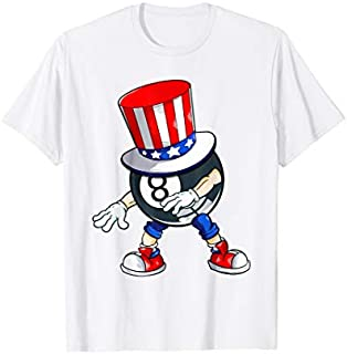 Flossing Billiard With USA Hat Patriotic 4th Of July T-shirt   Size S - 5XL