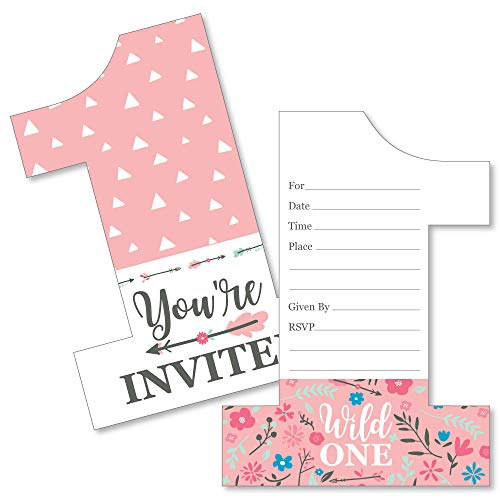 She's a Wild One - Shaped Fill-in Invitations