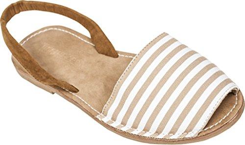 White Tidewater Sandals Boca Women's Tan qq0StHxw