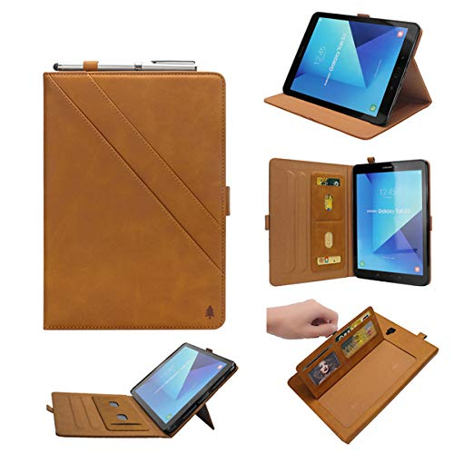 Lrker Double Prop Stand PU Leather Case for Samsung Galaxy Tab S3 9.7 9.7