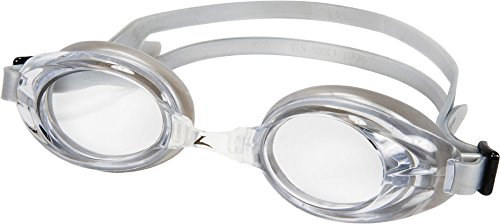 Leader RELAY GOGGLE, CLEAR/SILVER, OS