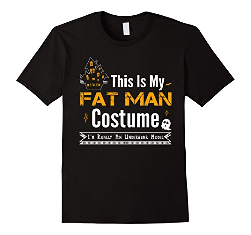 Mens This Is My Fat Man Costume Funny Halloween Tshirt XL Black