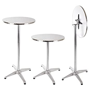 Acier De Aluminium InoxydableHauteur Bistrot En Pliable Table Et UVMzpS