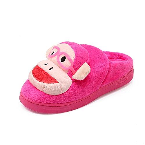 Y-Hui inverno pantofole di cotone Gli amanti della femmina Home Fondo spesso Anti Slip scarpe semi rimorchio,38-39 (per 3637 piedi),Rosa