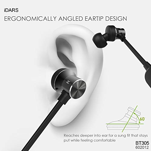 Amazon.com: iDARS Bluetooth Headphone Wireless Sport Earphone In-Ear Earbud Magnetic Sweatproof Stereo Headsets with Microphone and Remote for GYM Running ...