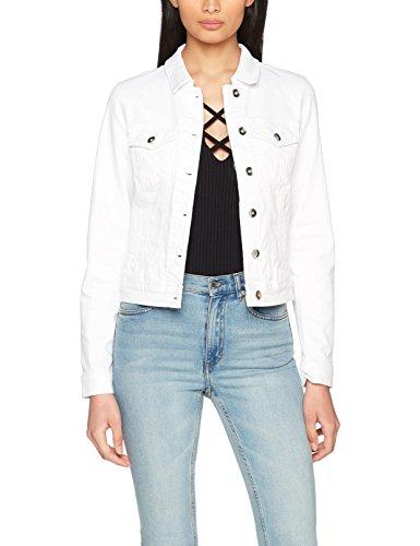 White Bright Moda White Mix LS Vaquera SOYA Mujer Blanco Chaqueta Denim Vero para Noos Vmhot Bright Jacket 4TFx4Z