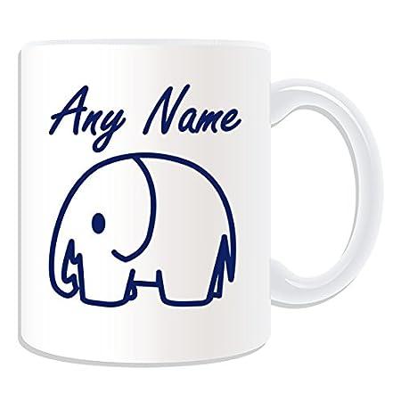 Personalisiertes Geschenk Einfach Zeichnen Elefant Tasse Animal