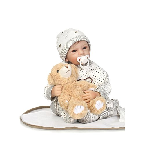 Hotu Reborn Baby Doll Newborn 19inch 50cm Boy baby Doll That Looks Real