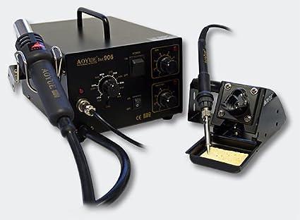 Aoyue int906 SMD de 0IRHP100 A-03 de estación de soldadura, aire caliente Soldadura
