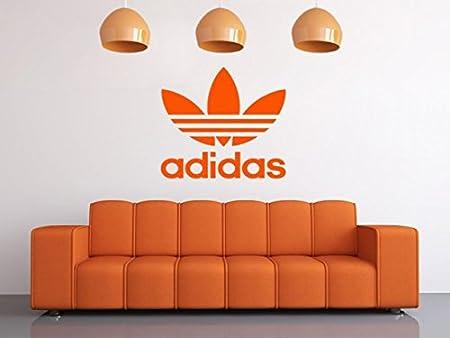 Adidas wall art logo wall art decal pvc transfer wall sticker size