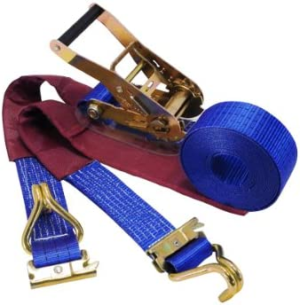 フリーク ラチェット式ラッシングベルト レール2ton/Jフック3ton 幅50mm×長さ1+7m