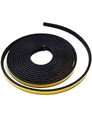 Cinta selladora autoadhesiva para chimenea, 3 m, diámetro 10 x 2 mm, cordón plano. Apto para diferentes modelos de chimenea Oranier.