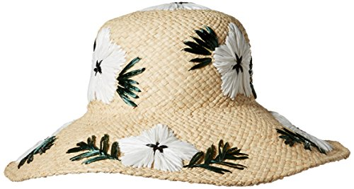Gottex Women's Punta Cana Raffia Sunhat Packable, Adjustable and Upf Rated, Natural/White, One Size by Gottex