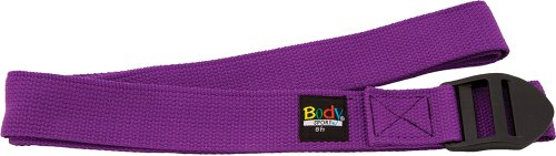 Body Sport Yoga Straps 8-Feet Purple