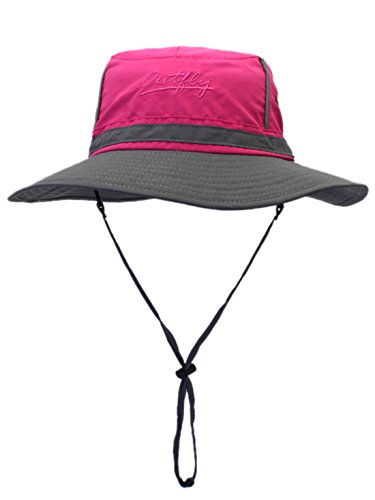 Panegy Outdoor Mesh Bucket Caps Fishing Boonie Hat Colorblock Fashion Sun Hats for Man Women Backpacking,Cycling,Hunting Outdoor Camping Rose Red