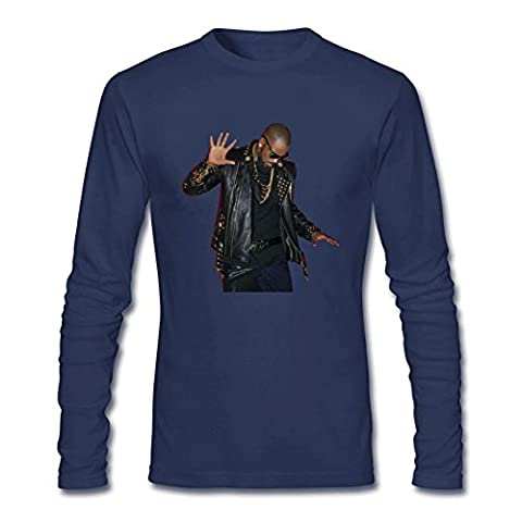 YangJJ Men's R. Kelly The Buffet 2015 Poster Long Sleeve T shirts Size M Royal Blue (What Did Kanye)