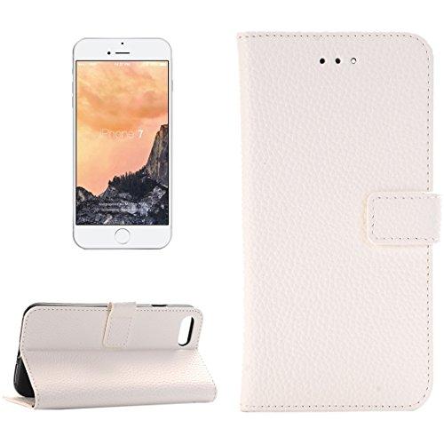 Mobile protection For iPhone 7 Textil Lichee horizontal Flip caja de cuero con titular y ranuras para tarjetas y cartera, pequeña cantidad recomendada antes de lanzamiento de iPhone 7 ( Color : Red ) White