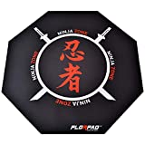 FlorPad Ninja Zone 45'' x 45'' Anti Floor Scratching Floor Mat | Water Repellent | Multiple Styles | Noise Cancelling | Smooth Surface
